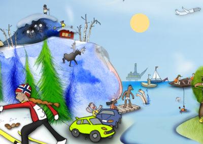 Skolebokillustrasjoner for Salto 4