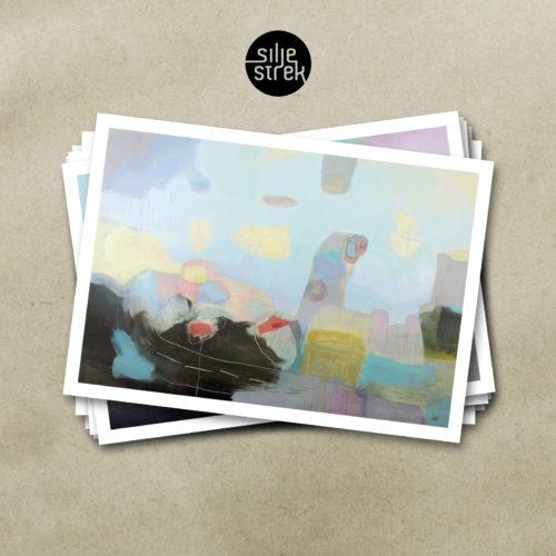 """""""Til sjøen"""" (kunstkort)"""